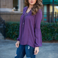 Deep Down Blouse, Plum