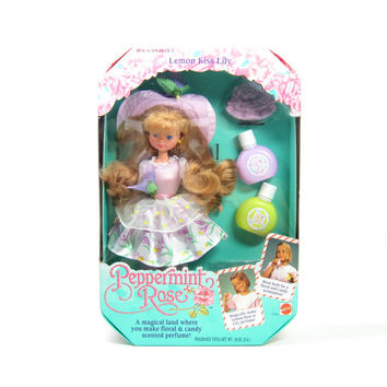 Lemon Kiss Lily Doll MIB Never Removed From Box (NRFB) Vintage Peppermint Rose Mattel Toy