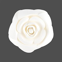 "BLOWOUT 8"" Garden Rose White Paper Flower Backdrop Wall Decor, 3D Premade for Weddings, Photo Shoots, Birthday Parties and more"