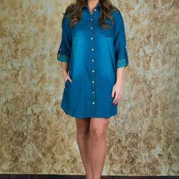 Pink Coconut Boutique | Rock This Country Denim Tunic/Dress