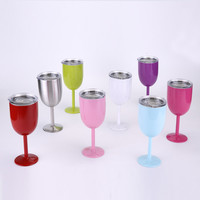 Stainless Steel Wine Glasses 14 Oz Made of Unbreakable BPA Free Shatterproof Steel That Is Dishwasher Safe Great