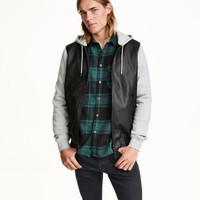 Hooded bomber jacket - from H&M