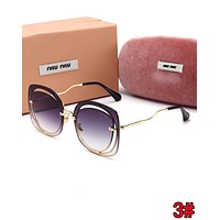 Miu Miu Summer Hot Sale Women Casual Shades Eyeglasses Glasses Sunglasses 3#