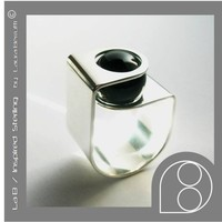 Sterling Ring with Onyx Sphere Stone by LauraBerrutti on Etsy