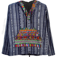 Hand Woven Brocade Baja Hoodie on Sale for $49.95 at HippieShop.com