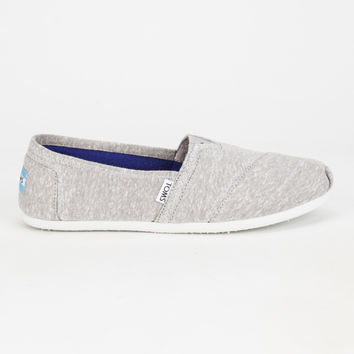 Toms Womens Jersey Classic Slip-Ons Light Grey  In Sizes