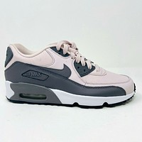 Nike Air Max 90 LTR GS Barely Rose Pink Gunsmoke White Grade School 833376 601