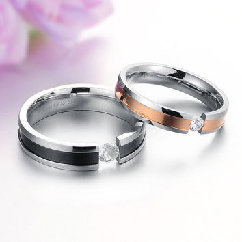 Korean Accessory Fashion Rhinestone Stylish Titanium Jewelry [10657619591]