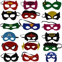 2017 Kids Superhero Mask Cosplay Party Mask Ironman Star Wars Hulk Superman Spiderman Batman Halloween Mask