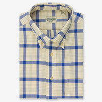 Button Down Cashmere Multi Check