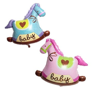 Helium foil Balloons mini Horse balon Baby Boy baby Girl Happy Birthday Party Decorations balls Baby Showers air Balloons 1pc