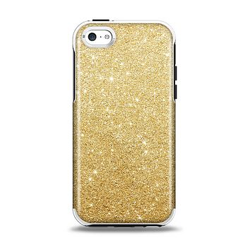 The Gold Glitter Ultra Metallic Apple iPhone 5c Otterbox Symmetry Case Skin Set