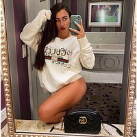 GUCCI classic printed letters long-sleeved round neck sweater