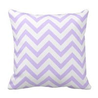 White Chevron On Bright Purple Pillow