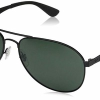 Ray Ban RB3549 006/71 61mm Black Metal Frame Green Classic Lens Sunglasses
