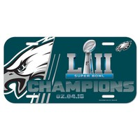 "PHILADELPHIA EAGLES 2017 SUPER BOWL LII CHAMPIONS 6""x12"" LICENSE PLATE CAR NEW"