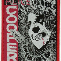 Alice Cooper Iron-On Patch Face Logo