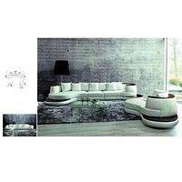 Luxury Sofa Elegant Contemporary Sectional With Single Chaise