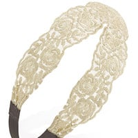 Glitter Rose Lace Headband