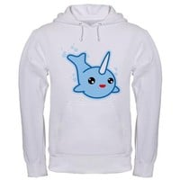 Narwhal Kawaii Hooded Sweatshirt on CafePress.com