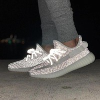 Adidas Yeezy 350V2 Boots Static Popular Couple Comfortable Running Sport Shoes Sneakers I/A