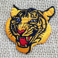 """Tiger Patch for Jackets. 2.75"""" Tiger Head Patches. Punk Rock Grunge Band Rockabilly Patches DIY Iron On Patch."""