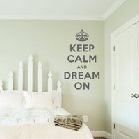 """Keep Calm and Dream On Wall Quote Decal Black 28"""" wide x 48"""" high: Home & Kitchen"""