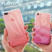 FLOVEME Gradient Phone Case For iPhone 7 6 6S Plus 5 5S SE Luxury Silicon Soft TPU Thin Back Cover For iPhone 5 6S 7 Plus Cases