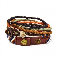 Icon Brand Bracelet with Mixed Beads - Jewellery - Accessories | Shop for Men's clothing | The Idle Man