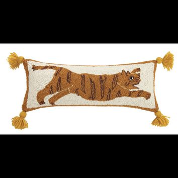 Tiger with Tassels Hook Pillow