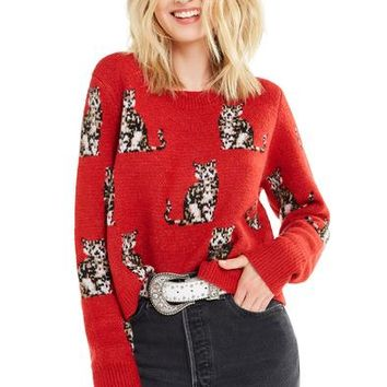 Seeing Cats Dali Sweater | Scarlet