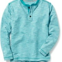 Old Navy Long Sleeve Striped Henley