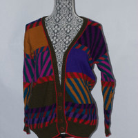 Vintage 100% Alpaca Hand Knit Cardigan by The Peruvian connection