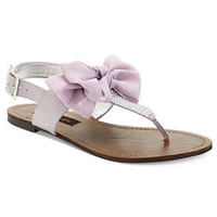 Material Girl Shoes, Solar Flat Thong Sandals - Jeweled Sandals - Shoes - Macy's