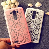 Palace Paper Cut Flower Pattern Henna Floral Retro mobile phone skin case Cover For LG G3 D855 D850 LS990 F400K phone Hard shell