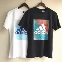 ADIDAS COLORFUL STRIPE THREE TOP SHIRT TOP H-RELAX-XS