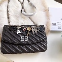 Balenciaga BB ROUND M CHARMS Shoulder Bag