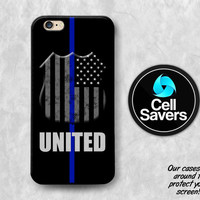 United Blue iPhone 6s Case iPhone 6 Case iPhone 6 Plus iPhone 6s Plus iPhone 5c iPhone 5 iPhone SE Case Thin Blue Line USA Flag Police Badge