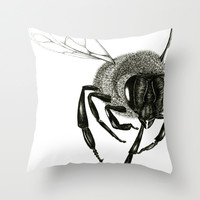 Bee Throw Pillow by Madeline Newcomb