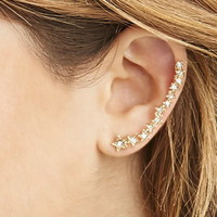 Rhinestone Star Ear Cuff Set