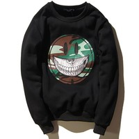 Unisex Round-neck Pullover Hoodies Winter Long Sleeve Sweatshirt [9506896135]