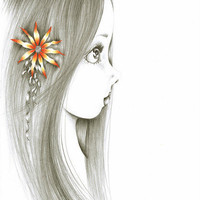 She's Pure Print of my original drawing by ABitofWhimsyArt on Etsy