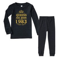 queens are born in 1983 Infant long sleeve pajama set