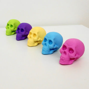Skulls Set 5 Skull Sculpture Skull Ornament Skull by hodihomedecor