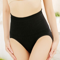 Women High Waist Solid Body Shaper Panties Postpartum Tummy Waist Trainer Corsets UnderwearSM6