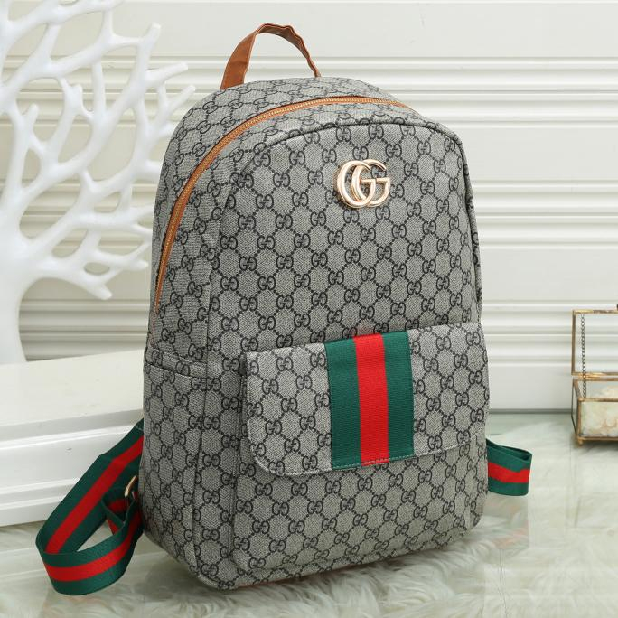 Image of GG Large Capacity Canvas Double G Backpack Bag