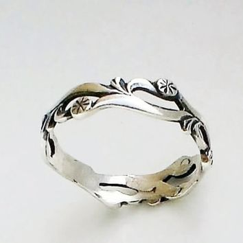 Dandelions Ring Sterling Silver BAND Ring by expressyourself