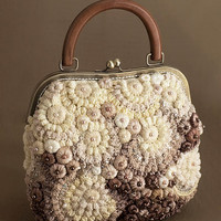 "Knitted bag ""Pearl beauty"" beige"