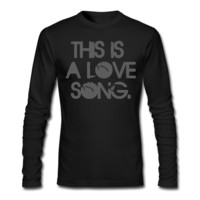 This Is A Love Song Men's Long Sleeve T-Shirt - Men's Long Sleeve Personalized T Shirt