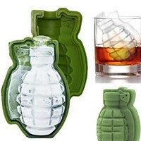 1pc 3D Grenade Shape Ice Cube Mold Ice Cream Maker Party Drinks Silicone Trays Molds Kitchen Bar Tool Gift #45